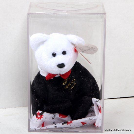 Ty Beanie Baby Countdown the Bear Happy New Year Bear 2005 in Case