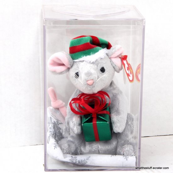 Ty Beanie Baby Tiny Tim the Mouse Internet Exclusive 2004 in Case