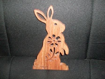 Wooden handmade bunny rabbit