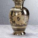 29363 Home Delight's Medium Brass N Pewter Floral Vase