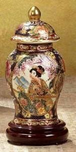 29618 Gold Highlighted Geisha Ginger Jar