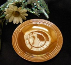 1077-1 Lustre Fire King Three Bands Saucer