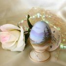 3785 Fenton Handpainted Lake Scene Egg