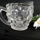 1732 Jeannette Individual Crystal Cubist Creamer