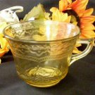 Antique Glass Federal Patrician Spoke Cup 3611