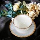 Fire King Golden Anniversary Cup-Saucer 1832