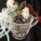 3126 Vintage Fostoria Chintz Sugar Bowl