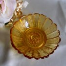Indiana Honey Amber Sunflower Candleholder 1740