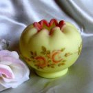1367 Fenton Roses on Burmese Rose Bowl