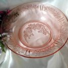2167 Federal Pink Sharon Flat Soup Bowl