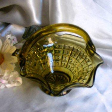 2234 Tiara Olive Green Hobnail Basket