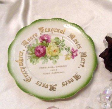 2853 Knowles Portland Oregon Rose Carnival Collector Plate