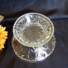 1937 Jeannette Clear Glass Feather Punch Bowl Base