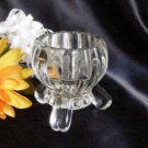 1214A Jeannette Glass Clear National Candleholder