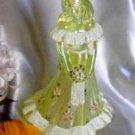 3228 QVC Flora on Iridized Vaseline Topaz Satin Bridesmaid Doll
