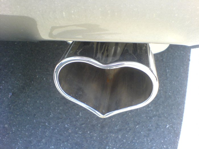 """Valentine """"Heart"""" Exhaust Tip Chrome"""