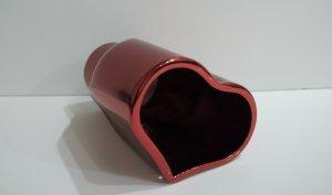 "Valentine ""Heart"" Exhaust Tip RED Chrome"