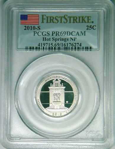 2010-S Hot Springs quarter PCGS PR69DCAM First Strike