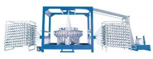 SBY-750×6G rolling column style 6 shuttles circular loom
