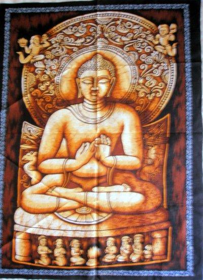 Shakyamuni Buddha Batik Wall Hanging Buddhist Tapestry Indian Vintage Home Decoration Art