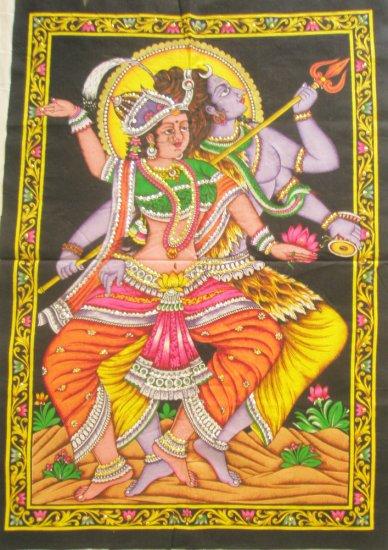 Celestial Dance  Shiva  Parvati Wall Hanging Decor Hindu Tapestry Indian Home Decoration Art India