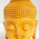 Wooden Hand Carved Shakyamuni Buddha Head Statue figurine  India
