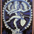 Batik Dancing Shiva Nataraja  Wall Hanging Decor Cotton Tapestry India Ethnic Home Decoration Art