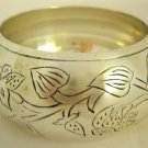 Ethnic Vintage Inspired  Chunky Extra Wide Floral Brass Bangle Cuff Bracelet Plus Size Jewelry