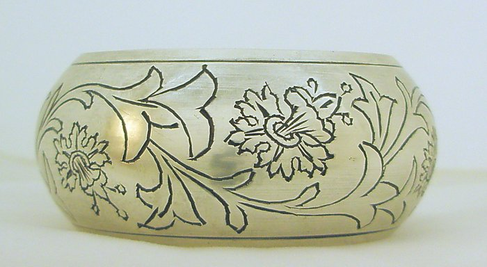 Ethnic Handmade Chunky Extra Wide Floral Vintage Brass Bangle Cuff Bracelet Plus Size Jewelry