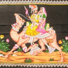 Camel Ride Rajasthan Wall Hanging Decor Cotton Tapestry Ethnic Home Decor Vintage Art India