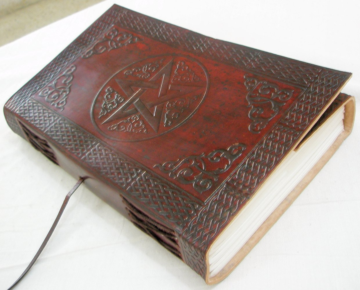 Handmade Leather Bound Book of Shadows blank journal Vintage Diary Embossed Writing Notebook Celtic