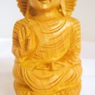Hand carved Meditating Indian Shakyamuni Buddha Statue India Home Decor Vintage Buddhism Art