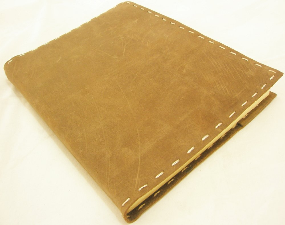 Refillable Handmade Paper Leather Bound Journal Writing Notebook Blank Diary Sketchbook