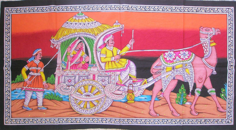 Rajasthani Royal Camel Decorative Tapestry Bohemian Indian Sequin  Wall Hanging Decor Art India