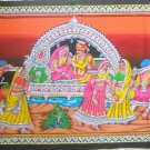 Rajasthani Royal Tapestry Bohemian Indian Sequin Wall Hanging Home Decor Art India