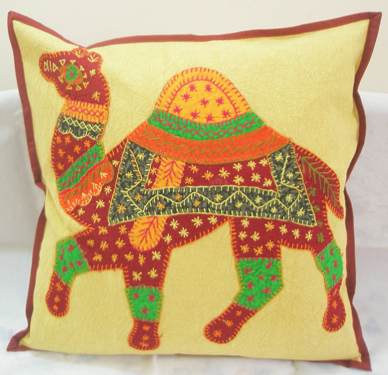 Indian Animal Cushion Pillow Toss Covers Sofa Throw Ethnic