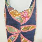 Handmade Cross body Fabric Bag Boho Hippie Ethnic Sequin Cotton Handbag Sling Bag Gypsy India