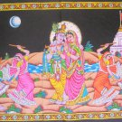 Radha Krishna Gopis Ras Leela Cotton Wall Hanging Sequin Large Tapestry India Ethnic Home Decoration