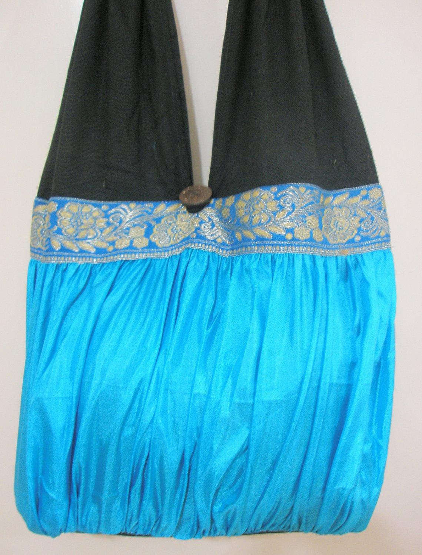 Ethnic Handmade Ladies Cotton Silk Tote Shoulder Bag Purse Hippy Bohemian Retro