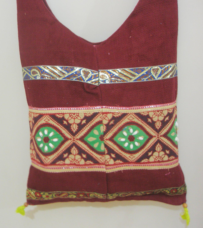 Handmade Hippie Bohemian Style Cross Body Messenger Sling Bag Cotton Fabric Vintage India
