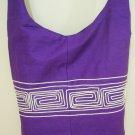 Hippie Boho Crossbody Bag Purple Fabric Messenger Sling Bag Ethnic Vintage Retro