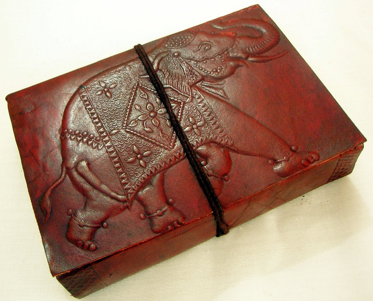 Cruelty Free Leather Elephant embossed blank journal Natural Paper Diary Notebook Sketchbook