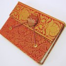 Handmade Eco Recycled Paper Unlined Journal Blank Diary SMALL Writing Notebook Sari Fabric Cover