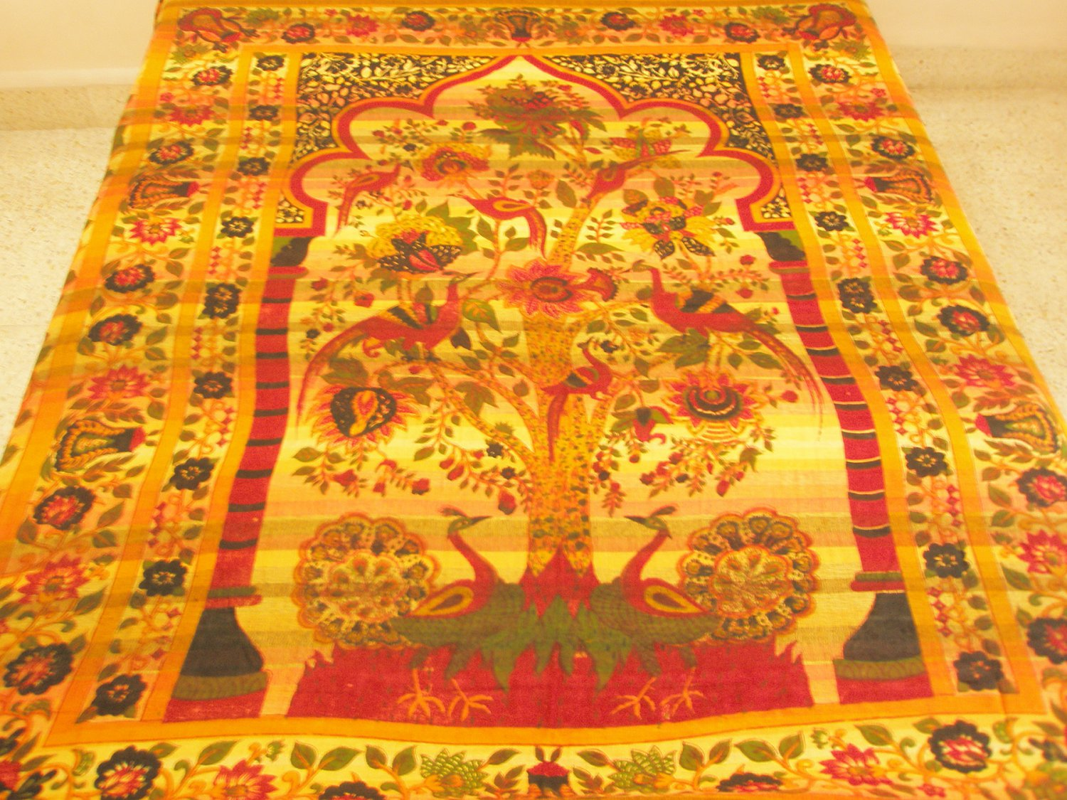 Celtic Tree of Life Indian Cotton Bedspread Queen Tapestry Throw Wall Hanging Home Decoration