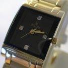 NEW BULOVA Ladies Elite GOLD / 4 DIAMONDS Watch $695