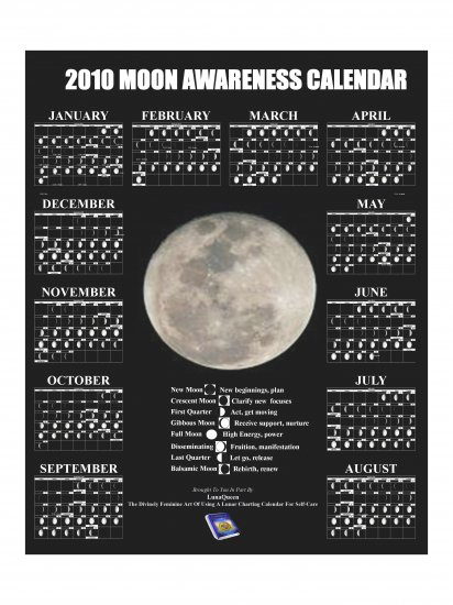 2010 Moon Phase Awareness Poster
