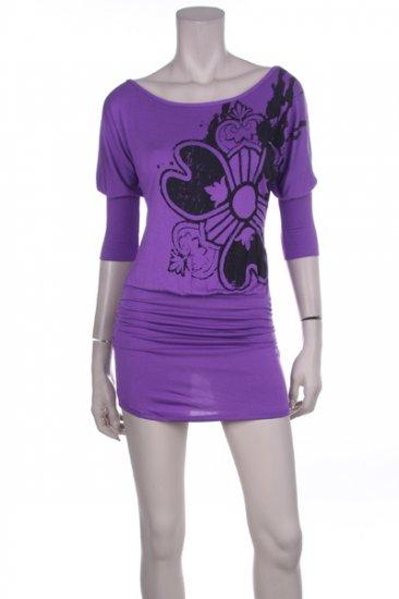 Purple/Yellow Flower Dress