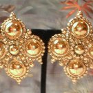 Designer Gold Earrings Signed BARRERA Medallions 7057