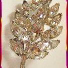Eisenberg Pin Marquise Rhinestones Vintage 1958 - 1962 9465