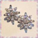 Vintage Bogoff Crystal Earrings Designer Signed 9463